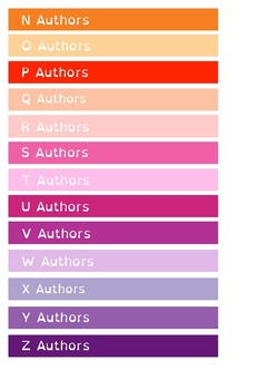 Alphabetical by Author - Shelf Labels - 16mm - A4 Paper