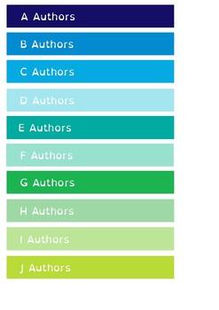 Alphabetical by Author - Shelf Labels - 22mm - A4 Paper