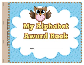 Alphabet Award Book with letter awards