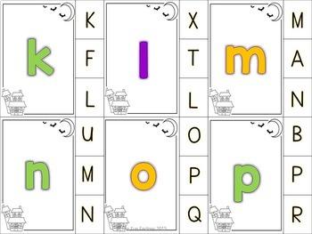 Halloween Alphabet Awareness