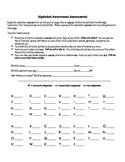 Alphabet Awareness Assessment Form