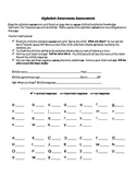 Alphabet Awareness Assessment Form