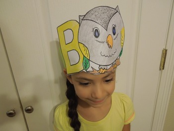 "Alphabet ""B is for Buho"" Spanish hat patterns (5 versions)"