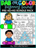 Alphabet BEGINNING SOUNDS Worksheets -PRE-KG & KG (HIDDEN LETTERS)