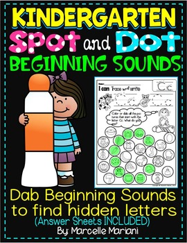 Alphabet BEGINNING SOUNDS Worksheets-Color or Dab TO FIND
