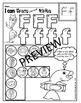 Alphabet BEGINNING SOUNDS Worksheets- Color or Dab (pre-kg, preschool)