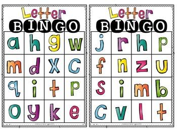Letter BINGO