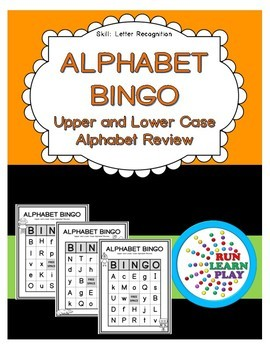 Alphabet BINGO - Upper and Lower Case Letters
