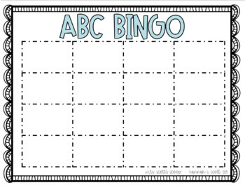 Alphabet BINGO (brightly colored & build-your-own!)