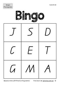 Alphabet Bingo For Lower Grades Queensland Font By Lem Phonics