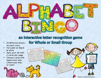 Alphabet BINGO Interactive Letter Recognition for Whole or Small Group