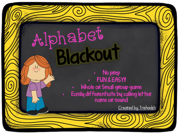 Alphabet BLACKOUT!