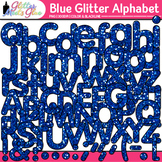 Blue Glitter Alphabet Clip Art {Great for Classroom Decor
