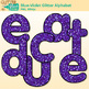 Blue-Violet Glitter Alphabet Clip Art {Great for Classroom Decor & Resources}