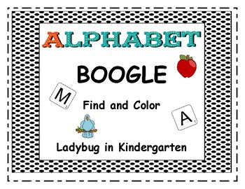 Alphabet BOOGLE Find and Color Match