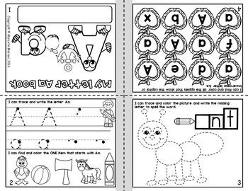 Alphabet BOOKS-TRACE, WRITE AND COLOR FOLD-ABLE ALPHABET BOOKS