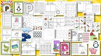 Alphabet MEGA BUNDLE Back to School Letter of the Week 1600 pages