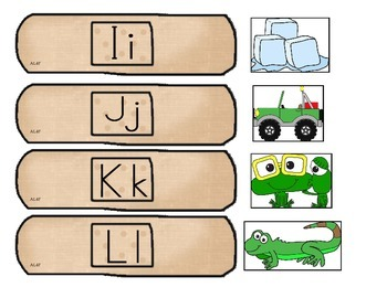 Alphabet Band aid Matching Game