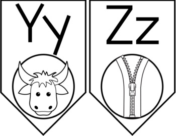 Alphabet Banner: Black and White