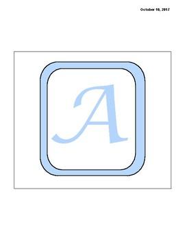 Alphabet Banner- Blue