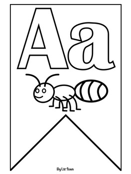 Alphabet Banner Classroom Display- Colouring Pages