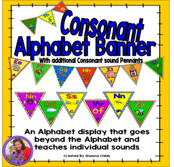 Alphabet Banner - Consonant and Digraphs
