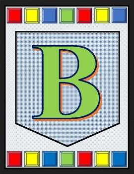 Alphabet Banner - Create your own WORDS or PHRASES!!!