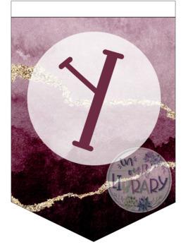 Alphabet Banner {Garnet Geode}