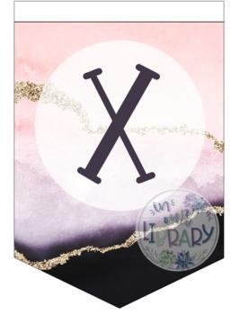 Alphabet Banner {Purple & Pink Geode}