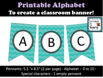 Alphabet Banner Letters + Numbers and Special Characters