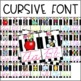 Alphabet Banner Posters Black and White Stripe Color POP! Classroom Decor