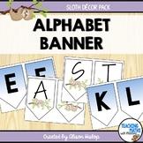 Alphabet Banner Sloth Classroom Decor Set