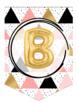 Alphabet Banner {Trendy Gold Balloons}