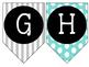 Alphabet Banner {Turquoise, Black, & Grey}