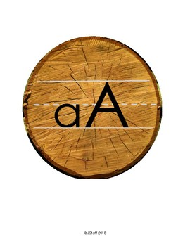 Alphabet Banner - Wood/Forest Decor