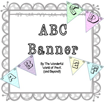 Alphabet Banner for Back To School