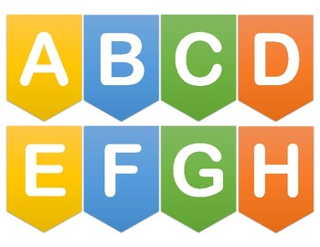 Alphabet Banner for Classroom Online Background Wall Bulletin Board