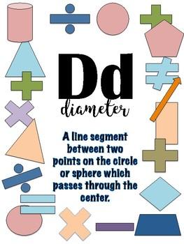 Alphabet Banner for Math Classroom