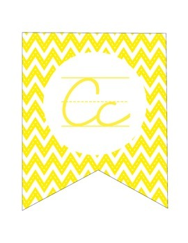 Alphabet Banner in Cursive
