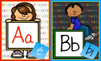 Alphabet Banner with French Pronunciation