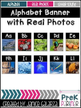 Alphabet Banner with Real Photos