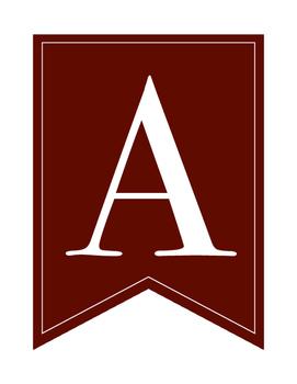 Alphabet Banners