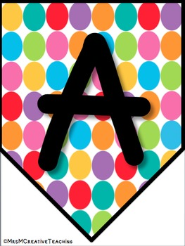 Alphabet Banners: Stripes and Dots