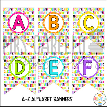 Alphabet Banners and Pennants