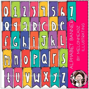 Alphabet Banners clip art - by Melonheadz Clipart by ...