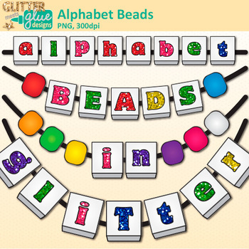 Alphabet Beads Clip Art {Teach Letter Recognition and Identification}