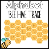 Alphabet Bee Hive Trace Capital and Lowercase Letters