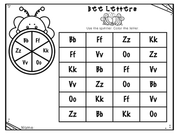 Alphabet Bees {Upper and Lowercase Matching}