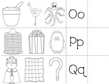 Alphabet Begining Sound Fold It Self-Checking Flashcards