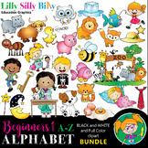 Alphabet - Beginners 1. BLACK AND WHITE & Color Bundle. {L